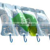 hot printing bottle shape soft plastic juice bag/pure drinking water plastic bag                                                                         Quality Choice