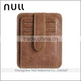 Latest arrival China supplier mini portable old style women's leather money wallet clip