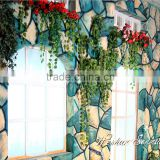never loose color artificial grape leaves vine for hotel decor