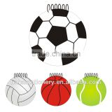 Football shape basket ball spiral world cup PVC cover paper made in china promotion memo pad