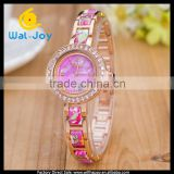 WJ-4813 personality flower geneva beautiful top sale charming colorful women bracelet watch