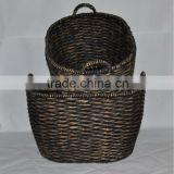 Vietnam Water hyacinth oval baskets, set of 2 oval water hyacinth basket with ear handles