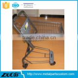 Promotion export to Japan stainless steel shopping push cart