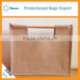 High Quality Custom bamboo Handle sack Reusable picture of jute bags wholesale