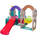 plastic swing and slide for the baby at home
