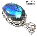 Blue fire labradorite jewelry 925 solid sterling silver jewelry Sterling Silver Cabochon Pendant Setting