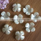 36mm big size middle hole sew on four leaf concave receptacle flower pearl beas for jewelry accessory