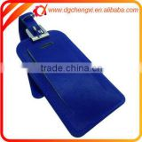 Navy Blue Genuine Leather ID Golf Luggage bag Tags