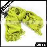 CHS-5-E Lady Knitted Retro Scarf Custom knitting mink fur shawl