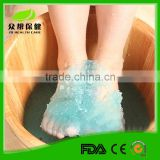 Diamond crystal jelly bath powder with different scent color