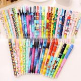 wholesale DIY creative stationery personalized Novelty floral gel pen korean slim multi color ink office ball point pen