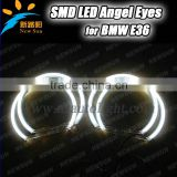 131mm 3014 SMD LED angel eyes ring for BMW E36 E38 E39 car headlight with blue red green white color available