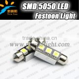 2014 Motorcycle part SV8.5 socket 36mm 3PCS 5050 smd led festoon lamps 12v replace reading/luggage/license/door/seat lightings