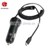 HUNDA Phone Accessories Car Charger with Android Cable and Colorful Light Indicators