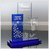 2015 Newest Design Loyal Blue Crystal Awards Plaque