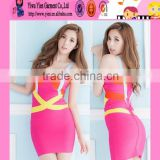 fashion Europe market plus size hot bandage dress clubwear sexy ladies cheaper original bandage dress