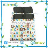 Soft Five Layers Baby Bamboo Charcoal Inserts Reusable Liners for Cloth Diapers with Gussets