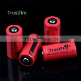TrustFire wholesale IMR16340 3.7v 700mAh rechargeable high drain lithium battery for flashlight, E-cig, power tools
