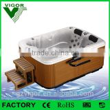 Factory small indoor mini massage hot tubs with massage S.S spa massage jets