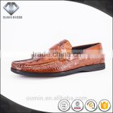 Men casual shoes 2016 casual shoe for men comfortable hot sell men footwear cow leather emboss crocodile