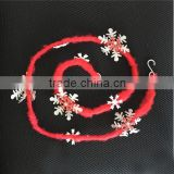 Beautiful Christmas garland with snowflake on tree decoration hanging ornaments xmas gifts for tree