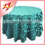 New Product Promotion Banquet Wedding Used Multi-color petal polyester dining table cover