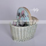 Wicker Material and Picnic Basket Basket Type bulk wicker baskets