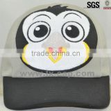 100% cotton soft material children 5-panel baseball cap with bear printed baseball cap