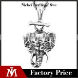 mens punk elephant charm necklace stainless steel cheap casting animal pendant necklace jewelry