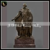 Antique Bronze,Brass,Cast Iron Metal Figure Statues The Washington