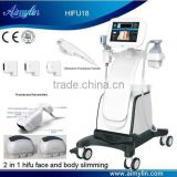 0.2-3.0J 2 In 1 Machine With HIFU Multi-polar RF Facelift Handpiece And LIPOHIFU Handpiece Together