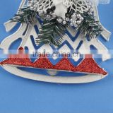 Christmas Tree Decorative Ornaments X-Mas Decorations Tree Hanging Plastic Jingle Bells For Wholesale