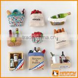 high quality france wooden wine bottle and resign fridge magnets for home decor