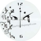 Promotional art wall clock and crafts wall clock of 2 choicw white or black