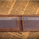 Full Grain Leather Money Clip Wallet with High Quality RFID Blocker Slim Bifold Credit Card Holder