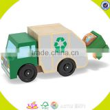 wholesale baby wooden garbage truck toy popular kids wooden garbage truck toy wooden garbage truck toy W04A169