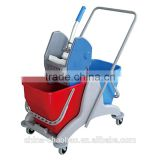 hot selling housekeeping plastic floor mop trolley