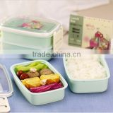 Clear Divided Food Container Bento Lunch Box 4-Compartment Airtight Storage Lid,hot new product for 2015,plastic lunch Bento box