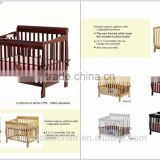 solid beech wood round cot wholesale baby cribs full size bed