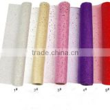 flower packing glittler organza fabric roll flower wrapping gift packing floral wrapping organza roll