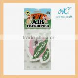 2015 Best seller for promotional gifts customized logo hanging paper air freshener car perfume wholesale