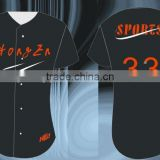 Hongen sports apparel oem fashion sublimated custom blank cheap baseball jersey wholesale