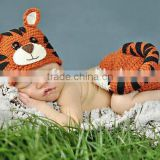 Cat Newborn Baby Boy Girl Kids Crochet Beanie Outfit Set Hat Photo Prop Clothes