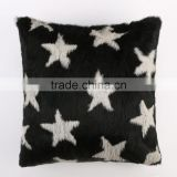 Y.ROGUSA Brand YR049 Stars Soft Genuine Rabbit Fur Sofa Pillow/Home Fur Cushion Cover Custom Order