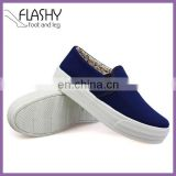 Wholesale slip on casual shoes flat sneakers high platform shoes