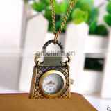 women's handbags Watch coin bag shaped Luxury pocket watch Top quality Antique bronze handbag Pendant pocket watches