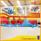 AOQI cartoon theme inflatable pirate ship outdoor equipment octopus shape inflatable pirate boat for sale