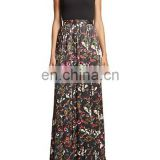 China wholesale Alibaba chiffon long dress digital printing flower women maxi dress