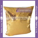 SQP007A indian gold sequin cushion wholesale decorative pillow covers