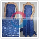 Royal blue african dry lace material